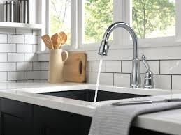 100 delta savile stainless 1 handle pull down kitchen faucet
