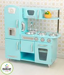 cuisine kidkraft amazon com kidkraft vintage kitchen in blue toys