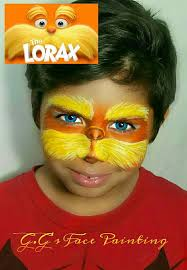 Lorax Halloween Costume Lorax Gg U0027s Face Painting Face Paint Characters