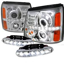 cadillac escalade fog lights 2002 2006 cadillac escalade dual halo chrome projector headlights