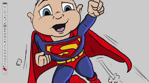 superbaby quick cartoon drawing