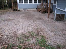 Paver Patio Diy Diy Paver Patio Installation Envisioning Green