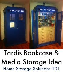 Dr Bookcase Tardis Dvd Storage Ideas For Doctor Who Fans Media Storage