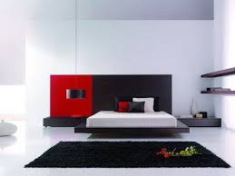bed design with side table bedroom black and red colored luxury bedroom with wide size