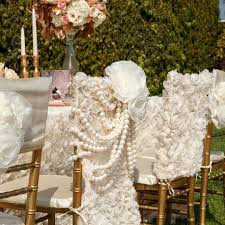 ivory rose garden pearls chiavari chair cover wedding chair