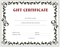 3 best images of gift certificate template free fill printable