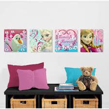 disney frozen halloween background disney frozen canvas wall art 4 pack walmart com