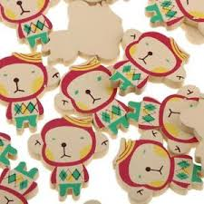 wedding scrapbook supplies 50pcs wooden monkey embellishments baby shower wedding