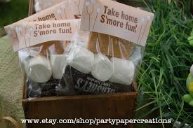 s u0027mores party favor bag topper backyard campout thank
