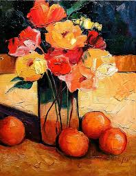 fruit and flowers still fruit and flowers contemporary painting fruit and