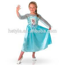 Elsa Frozen Halloween Costume Arrival Baby Girls Frozen Dress Kids Party Wear Summer Dress