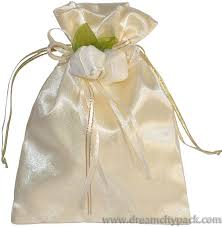 gold organza bags custom organza and satin bag with rosette gold wholesale