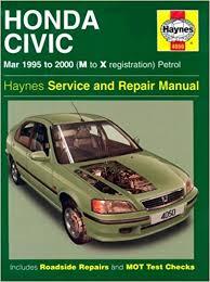 honda civic service and repair manual 1995 to 2000 haynes