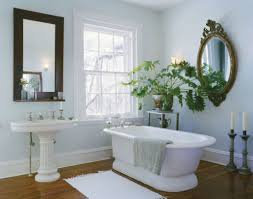 Indoor Plant Design by Bathroom With Freestanding Tub And Swiss Cheese Indoor Plant The