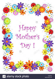 flower frame happy mother u0027s day card stock photo royalty free