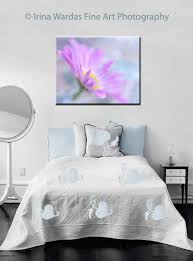 Daisy Room Decor Flower Canvas Print Large Daisy Wall Art Canvas Aqua Grey Purple