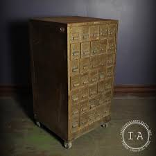 metal parts cabinet drawers vintage industrial 35 drawer metal rolling parts cabinet jewelry