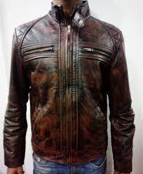 brown motorcycle jacket mens motorcycle dark brown with tan distressed diamond leather