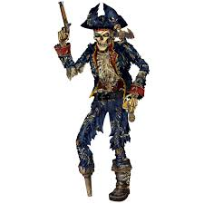 Halloween Skeleton Cut Out by Amazon Com Jointed Pirate Skeleton Party Accessory 1 Count 1