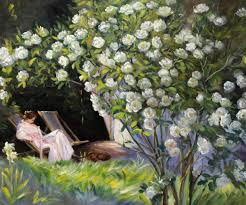 Cheap Home Decorations For Sale Peder Severin Kroyer Paintings For Sale Rose Garden Modern Art