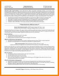 10 sales representative resume sample sap appeal