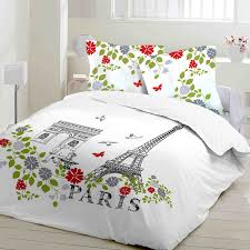 paris cotton bed linen set duvet cover u0026 pillow cases