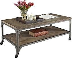 amazon com altra cecil wood veneer coffee table rustic kitchen
