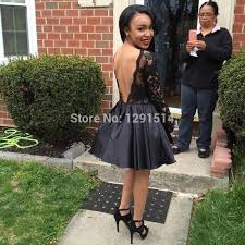 sleeve black homecoming dresses cheap 2016 real life lace applique