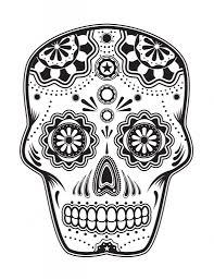 coloring dia de los muertos skull coloring pages