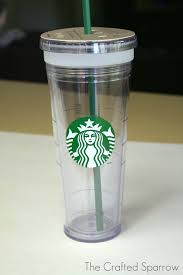 diy glittered starbucks tumbler the crafted sparrow