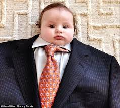 Grown Baby Meme - baby suiting photo trend puts tiny tots in adult clothes daily