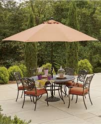 Outdoor Patio Dining Sets With Umbrella Charming Macys Outdoor Furniture Furniture Set Outdoor Furniture