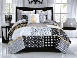 Queen Comforter Elegant Black White Dot U0026 Scroll Teen Bedding Twin Full Queen