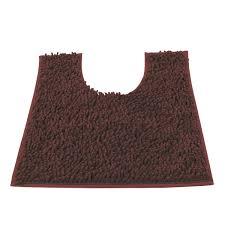 Brown Bathroom Rug by Vdomus Contour Bath Rug Soft Shaggy U Shaped Toilet Floor Mat
