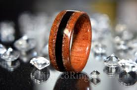 bog the wedding band wood wedding ring mahogany wood with bog oak jewelry