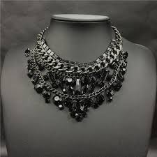 black diamond necklace images Wholesale luxury crystal choker necklace for women fashion brand jpg