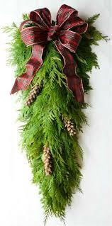 fresh cedar teardrop swag fresh evergreen swag 59 99