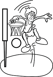 Sports Coloring Pages Basketball Player Basketball Coloring Sheet Basketball Color Page