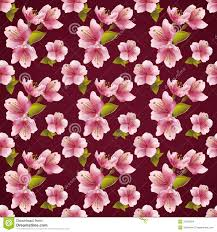Japanese Cherry Blossom Tree by Seamless Tree Pattern Japanese Cherry Blossom Royalty Free Stock
