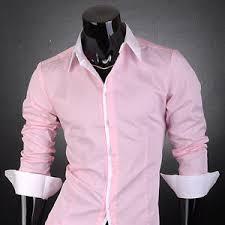 new men u0027s designer white line shirts top pink js1073 s m l xl ebay