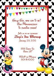 mickey and minnie mouse birthday invitations bagvania mickey and