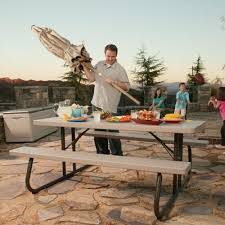 lifetime 6 folding outdoor picnic table brown 60110 popular of lifetime 6 folding picnic table with lifetime a frame 6