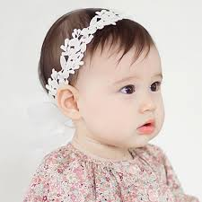 white flower headband 2018 baby flower headband girl children infant baby white floral