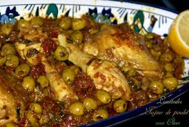 dounia cuisine tajine de poulet aux olives zeste de citron et tomates séchées