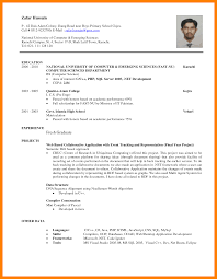 Resume Format Sample Resume by Fresh Graduate Resume Sample 4 Sample Resume Format For Fresh