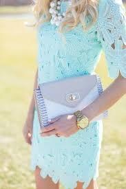 women u0027s light blue lace shift dress grey leather clutch white