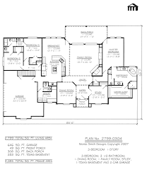 cape cod house plan 86106 total living area 1985 sq ft 4 colonial