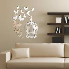19 pulchritude birdcage wall decor ideas for latter peoplewall 16 butterflies encage draft