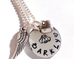 Personalized Memorial Necklace Dog Memorial Jewelry Etsy