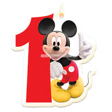 mickey mouse birthday mickey mouse 1st birthday candle mick5cand1 lg jpg 600 600